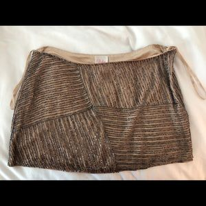 Gorgeous Parker Beaded Nude Mini NWT